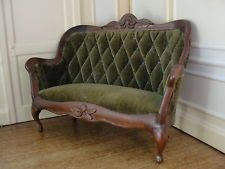 Doll House Miniature Green Velvet Sofa-  Sonia Messer Imports- Colombia
