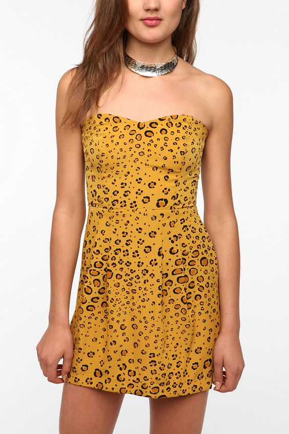 Cooperative Charming Silky Strapless Dress  #UrbanOutfitters sale $14.99 in love with this color!!! :)