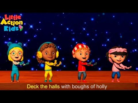 12 Deck The Halls With Lyrics And Actions Christmas Songs For Children Little Acti Christmas Songs For Kids Preschool Christmas Songs Deck The Halls Song