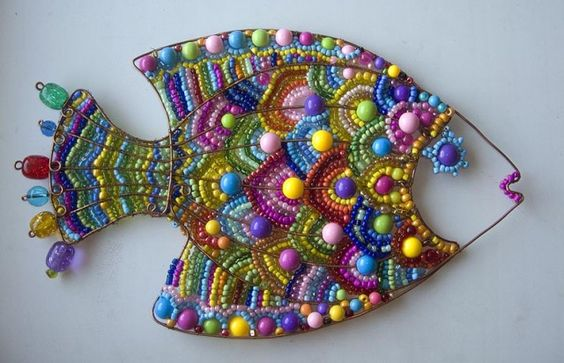 Wire Beaded Fish: