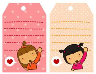 Pigtails: Gift tags | Pigtails by Jazmin Cruz free print