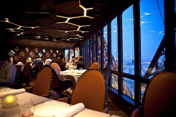 Restaurant Jules Verne is in the Eiffel Tower