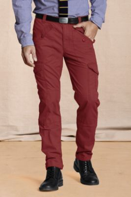Canvas Men's Slim Fit Cargo Pants from Lands' End (on sale- great colors- $32)