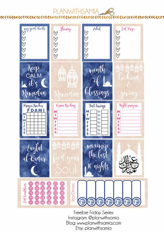 Planner & Journaling Printables ❤ Plan with samia