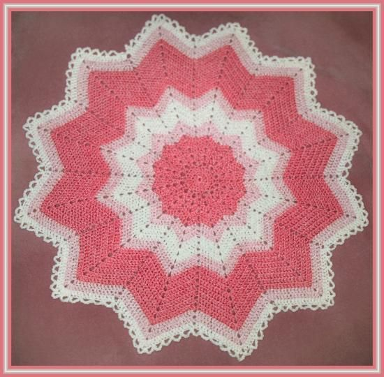 Free Crochet Pattern For Circle Baby Blanket : Free Crochet Round Ripple Pattern. Crochet afghan ...