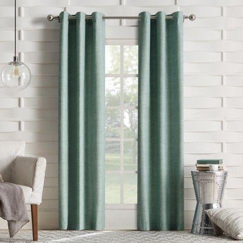 Haverhill Thermal Linen Curtain Panel Sun Zero Target Panel Curtains Insulated Curtains Curtains