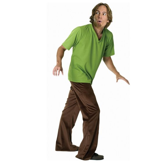 Scooby-Doo Shaggy Adult Costume - Includes Wig, goatee, green ...