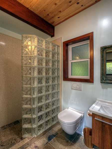 Toilets Bathroom Remodeling And Glass Blocks Wall On