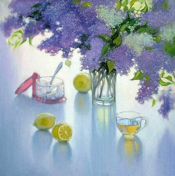 Victoria Yakimov — Lavender Morning  (800×805):