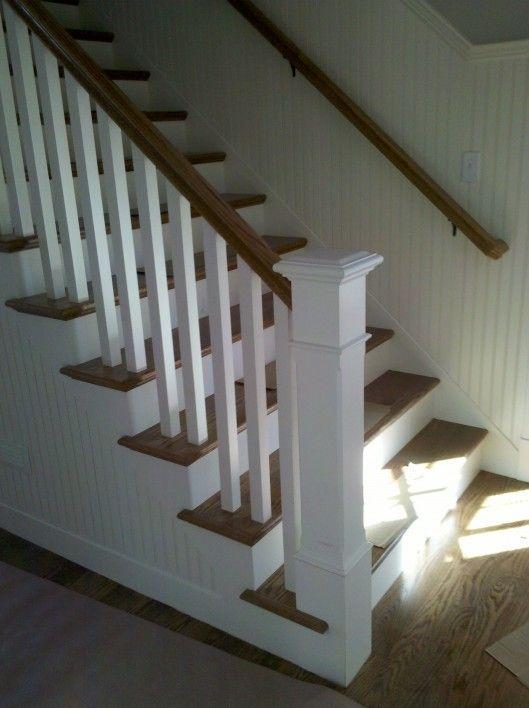 Best Square Ballusters Beadboard Stairways Pinterest 400 x 300