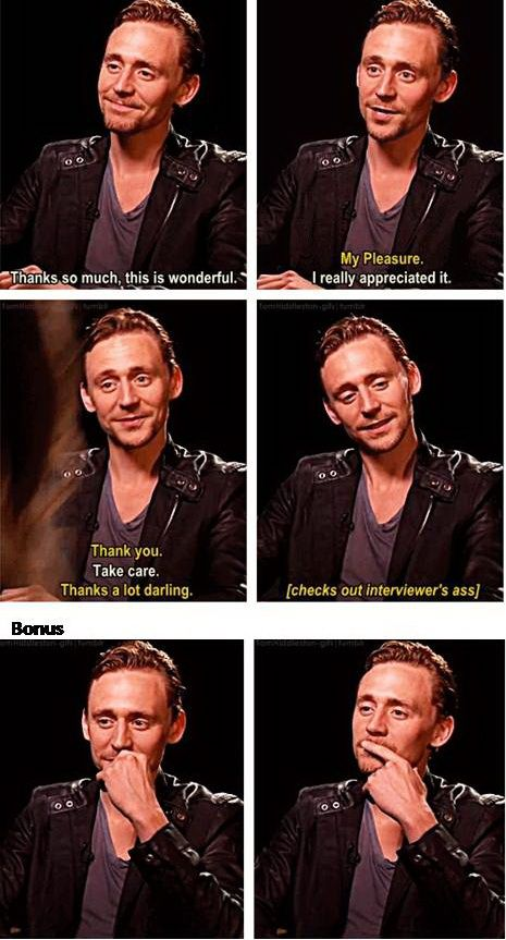 That's Sassy! Look at the way he checked her (the interviewer) out during the whole interview...I think he loves Brunette.