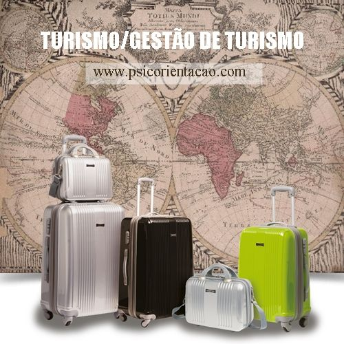 TURISMO/GESTÃO DE TURISMO – Planejar, divulgar, organizar atividades de lazer e negócios.     Atuação: Agência de viagens, alimentos e bebidas, ecoturismo, eventos, hotelaria, marketing, planejamento, transporte, turismo de negócios