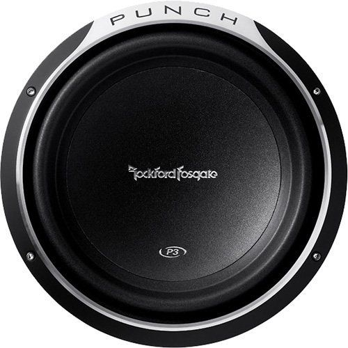 """ROCKFORD FOSGATE P3SD2-10 600W 10/"""" Dual 2-ohm Punch Shallow-Mount Car Subwoofer"""