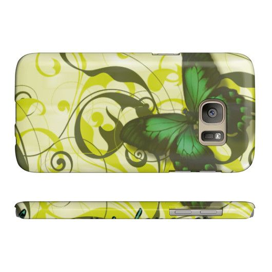 Butterfly (green) Phone Case