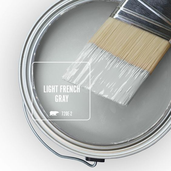 Behr Light French Gray paint color. #paintcolors #lightfrenchgray #behr #lightgray