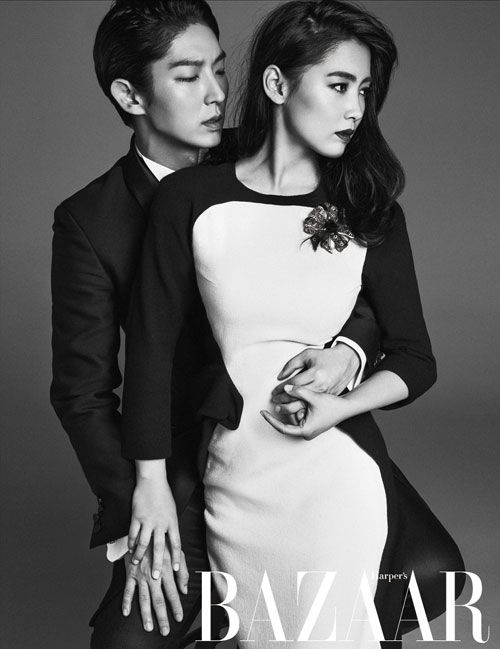 Joseon Gunman's Lee Joon Ki and Nam Sang Mi look dreamy together in Harper's Bazaar