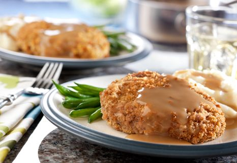 You make the breading for these mouthwatering pork chops with stuffing mix...it couldn't be easier or more delicious.