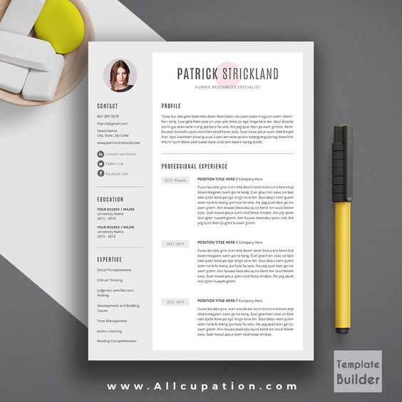Pinterest u2022 The worldu0027s catalogue of ideas - references on a resume template
