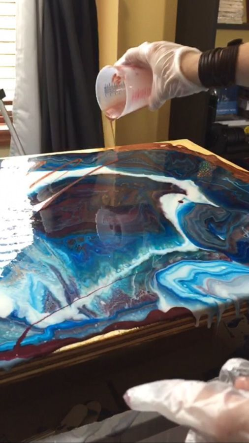 Poured Resin Wall Art | Resin wall art, Epoxy resin art