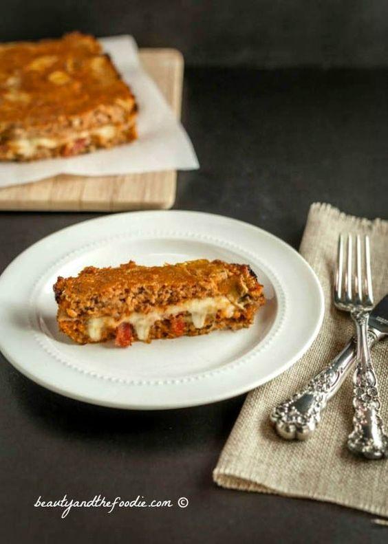 Bacon Mushroom Stuffed Turkey Meatloaf - Grain free, super low carb ...