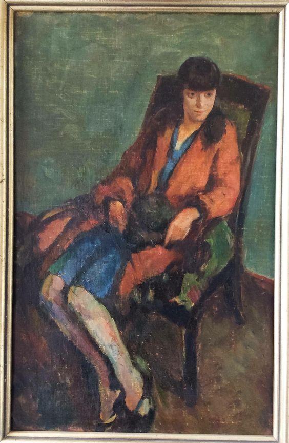 "Eugene Spiro, ""Lilly"", 1913, Oil on cardboard German born American (1904-1972)"