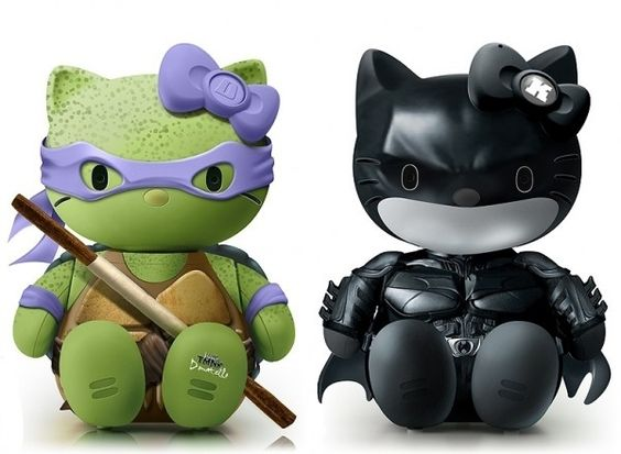 Donatello and Dark Knight Hello Kitty