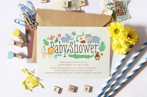 Baby Shower Invites by Origami Prints #invitations #safari #themed