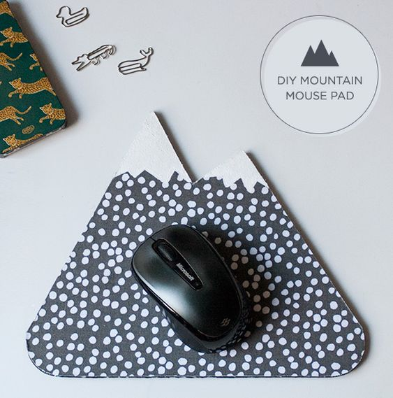 make your own mountain mouse pad diy projects. Black Bedroom Furniture Sets. Home Design Ideas