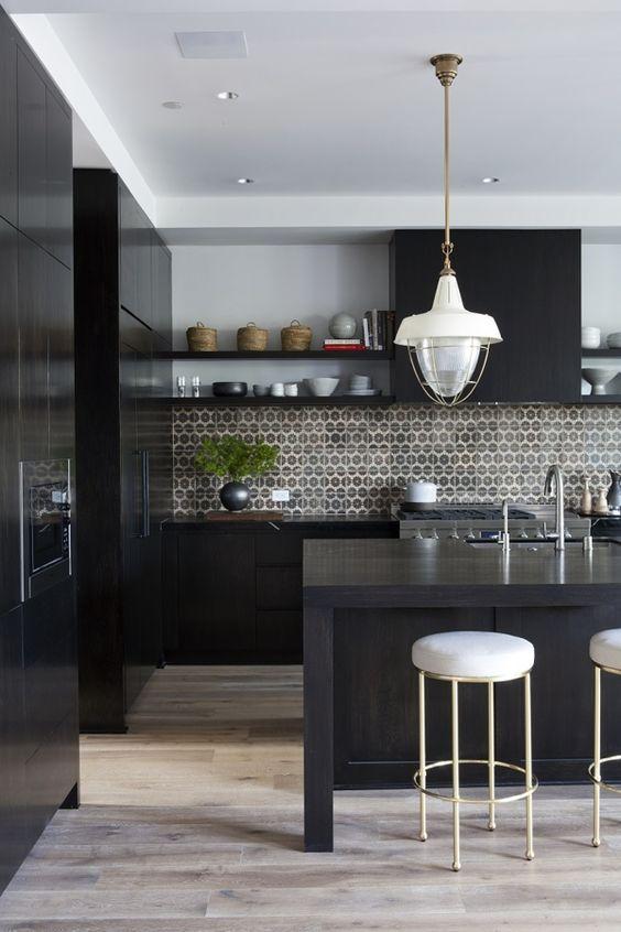Best 25 Inspiring Black Kitchens For Modern Home Design White 640 x 480