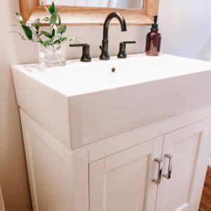 Modern Farmhouse 31 5 Single Sink Vanity Farmhouse Sink Vanity Small Bathroom Vanities Sink
