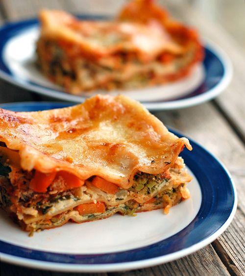 Skinny veggie lasagna -- 200 cals/serving
