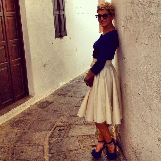 Handmade skirt for a lovely style@by my friend veronika vavoulidis!!!