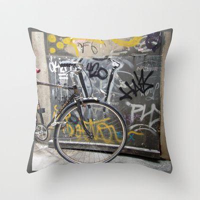 Bike, Barcelona Throw Pillow by Susan in Paris - $20.00