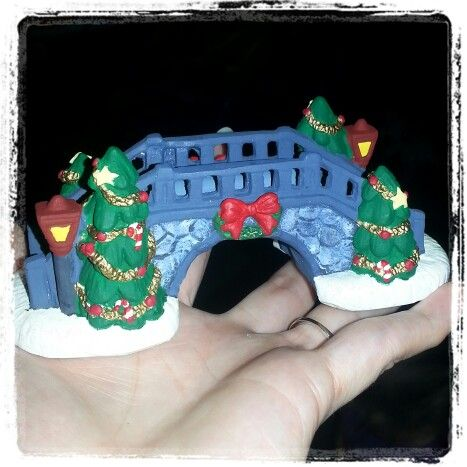 My little bridge for my Christmas village by Lauren Brady