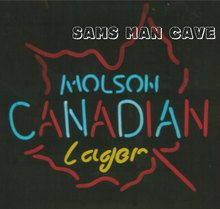 Molson Canadian Lager Leaf Neon