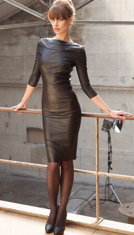 Tight leather dress  …must have!!!!  (via TumbleOn )