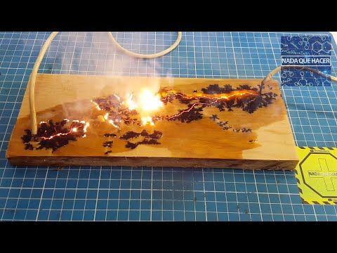 Como atrapar rayos en madera, figuras de Lichtenberg y fractales |NQUEH - YouTube