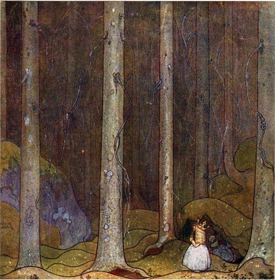 """""""Oskuldens vandring"""", from """"Bland tomtar och troll 1912"""", by John Bauer"""