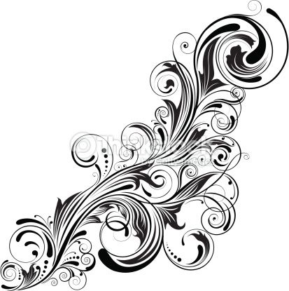 elegant swirl designs swirl corner black design vector art 139605258 thinkstock new tattoo. Black Bedroom Furniture Sets. Home Design Ideas