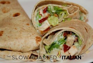 sun dried tomato grilled chicken wrap with ranch sauce
