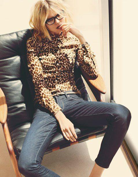 Leopard -denim