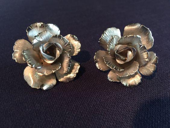 Vintage Giovanni Rose Earring/Bracelet Set by KikaMichel on Etsy