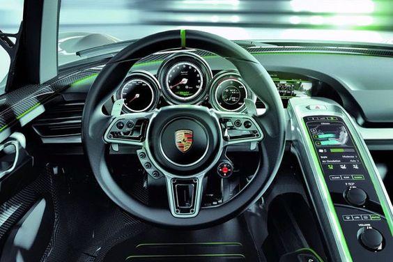 Interiores de automóviles de lujo