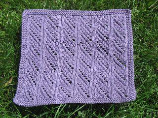 Free Knitting Pattern - Dishcloths & Washcloths : Lean to the Left Cloth