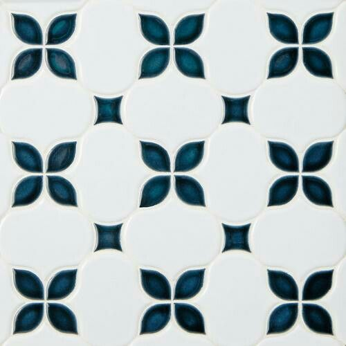 Canvas Iris Anchors Polished Porcelain Mosaic Porcelain Mosaic Mosaic Multi Color Tile