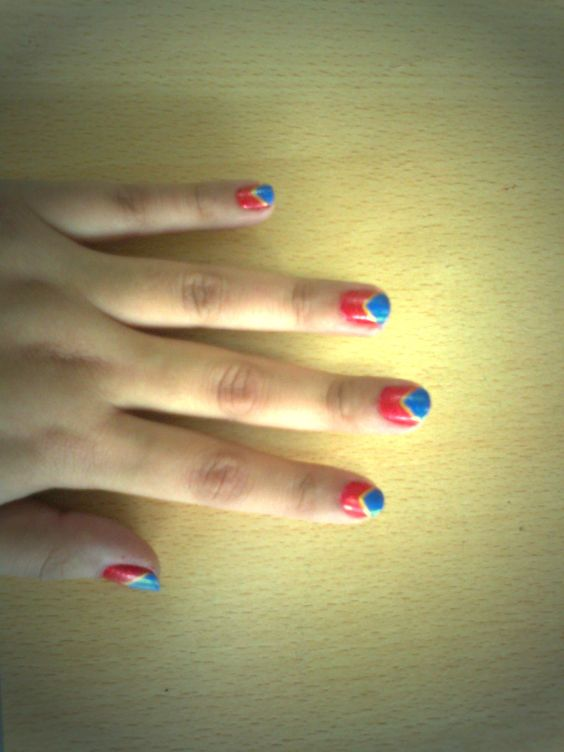 Wonder Woman Nails by me!