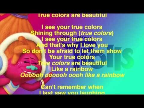 4 True Colors Lyrics Full Version Trolls Soundtrack Justin