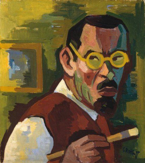 Self Portrait Karl Schmidt Rottluff 1928 German Art Portrait Painting Figurative Artists