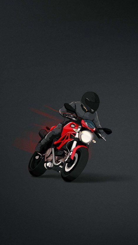 Ducati Monster Minimal Iphone Wallpaper Ducati Monster Bike Drawing Motorbike Art Iphone bike wallpaper hd