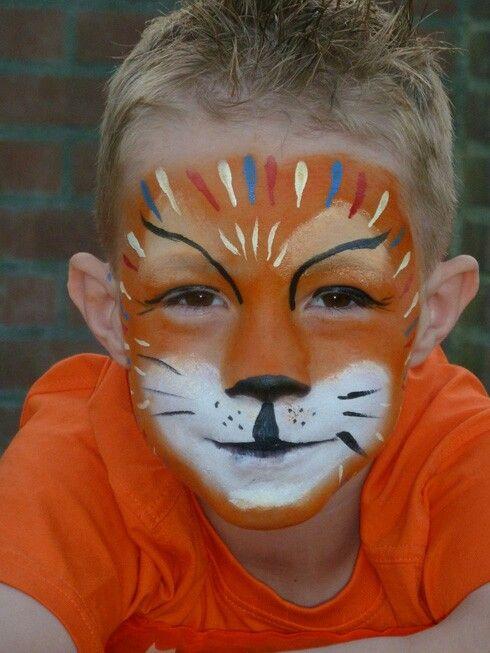 Schmink koningsdag leeuw